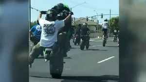 Caught On Camera: Rogue Motorcyclists Take Over San Jose Roadway [Video]