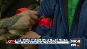 High school students learn how to treat gun shot wounds [Video]