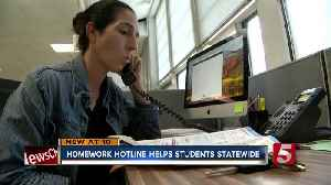 Homework Hotline Helps Tennessee Students; Adds Online Feature For Students [Video]