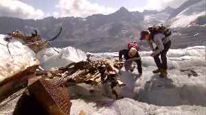 Melting Glacier Reveals Wreckage of WWII-Era U.S. Plane in Swiss Alps [Video]