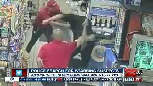 Police search for stabbing suspects [Video]