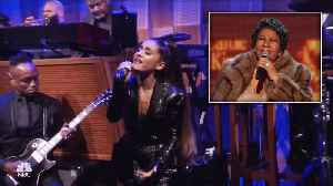 Ariana Grande Belts Out Emotional Tribute to Aretha Franklin [Video]