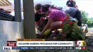 Police, teachers and students help build community garden for Delshire Elementary School [Video]