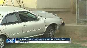 Counselors available at Escondido school after car crash on campus [Video]