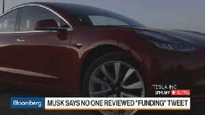 Musk Admits 'Funding' Tweet Done With No Review, While Driving [Video]