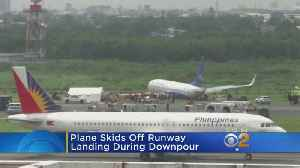 Plane Skids Off Runway In The Philippines [Video]