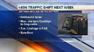 EB I-696 traffic shifting to newly rebuilt WB lanes for 2nd phase of Macomb County road project [Video]