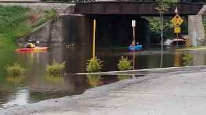 Floodwaters Submerge Roads in Watertown, Wisconsin [Video]