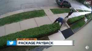 Package payback: Woman leaves smelly surprise for package thieves [Video]