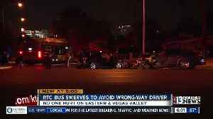 RTC bus swerves to avoid wrong way driver [Video]