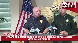 Presser: Two people shot during high school football game in West Palm Beach, Florida [Video]