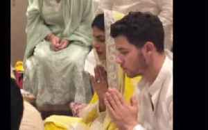 Priyanka Chopra and Nick Jonas celebrated their engagement with both of their families [Video]