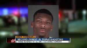 Second arrest made in Hudson triple shooting, detectives search for third suspect [Video]