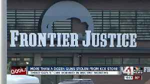 More than a dozen guns stolen from Frontier Justice in KCK [Video]