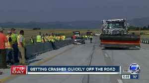 Douglas County to utilize plow trucks to move crashes off I-25 [Video]