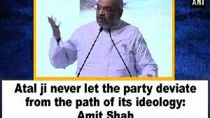 Atal ji never let the party deviate from the path of its ideology: Amit Shah [Video]