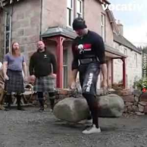 Strongmen Have Nothing on This 29-Year-Old Who Just Lifted Scotland's Dinnie Stone [Video]