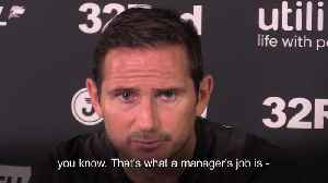 Frank Lampard positive after poor start to Derby career [Video]