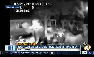 Video shows police SUV chasing teen, ramming him [Video]