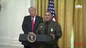President Trump Says Border Official 'Speaks Perfect English' at ICE Event [Video]