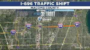 EB I-696 traffic shift to newly-rebuilt WB lanes postponed due to weather [Video]