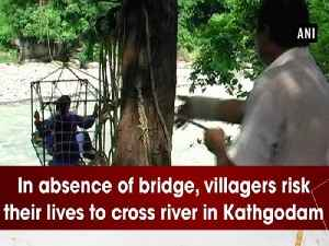 In absence of bridge, villagers risk their lives to cross river in Kathgodam [Video]