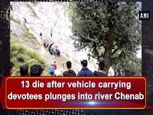13 die after vehicle carrying devotees plunges into river Chenab [Video]