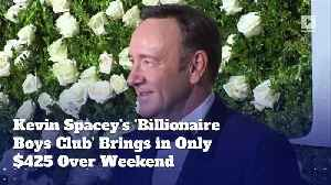 Kevin Spacey's 'Billionaire Boys Club' Brings in Only $425 Over Weekend [Video]