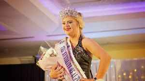 Tenacious teen is first with Down syndrome to win international beauty pageant, after being turned down by modelling agencies [Video]