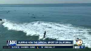 Surfing now the official sport of California [Video]