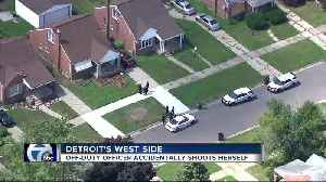 Off-duty Detroit police officer accidentally shoots herself on city's west side [Video]