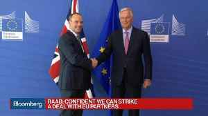 Raab, Barnier Hold Talks Today in Brussels [Video]
