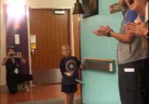 4-Year-Old 'Honorary Colorado Police Officer' Rings Bell on Cancer Treatment [Video]