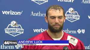 andrew luck kick off for saving [Video]