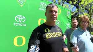 Web Extra: Mario Cristobal speaks with media after fall camp (8/10/18) [Video]