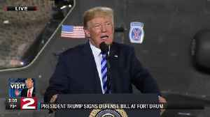 WATCH: Vice President Pence, President Trump speak at Fort Drum [Video]