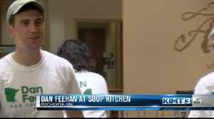 Dan Feehan serves at local soup kitchen [Video]