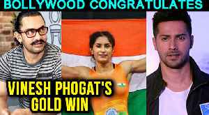 Asian Games 2018 | PM NARENDRA MODI,Varun Dhawan,Akshay Kumar Congratulate Vinesh Phogat's Gold Win [Video]
