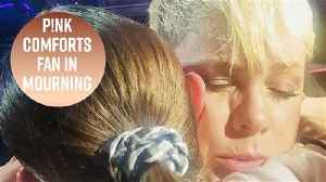 P!nk stops show to hug grieving fan [Video]