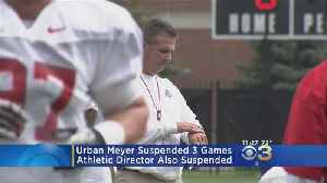 Ohio State Suspends Coach Meyer For 3 Games For Mishandled Abuse Case [Video]