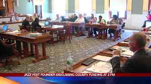 Jazz Fest Founder Discussing County Funding at 2PM: 9-21-16 [Video]