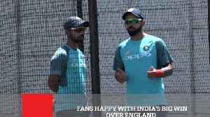 Fans Happy With India's Big Win Over England [Video]