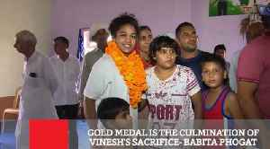 Gold Medal Is The Culmination Of Vinesh's Sacrifice- Babita Phogat [Video]