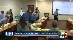 AED machines will now be in Lee County schools [Video]
