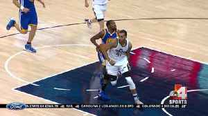 Shorthanded Jazz fall to Warriors, 106-99 [Video]