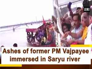 Ashes of former PM Vajpayee immersed in Saryu river [Video]