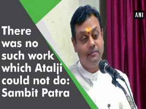 There was no such work which Atalji could not do: Sambit Patra [Video]
