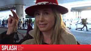 Mira Sorvino Stands with Protestors at LAX [Video]