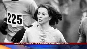 First Woman to Officially Run Boston Marathon Competing [Video]