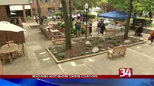 BU students renovate Northshore Towers courtyard [Video]